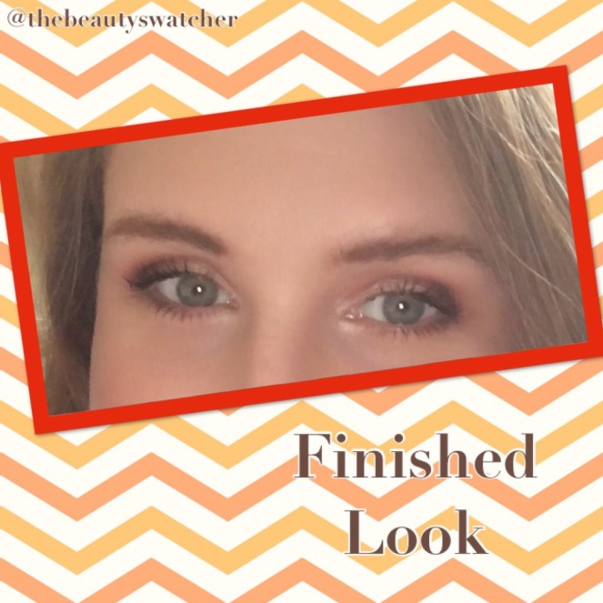 Summer Sunset Eyes Finished Look